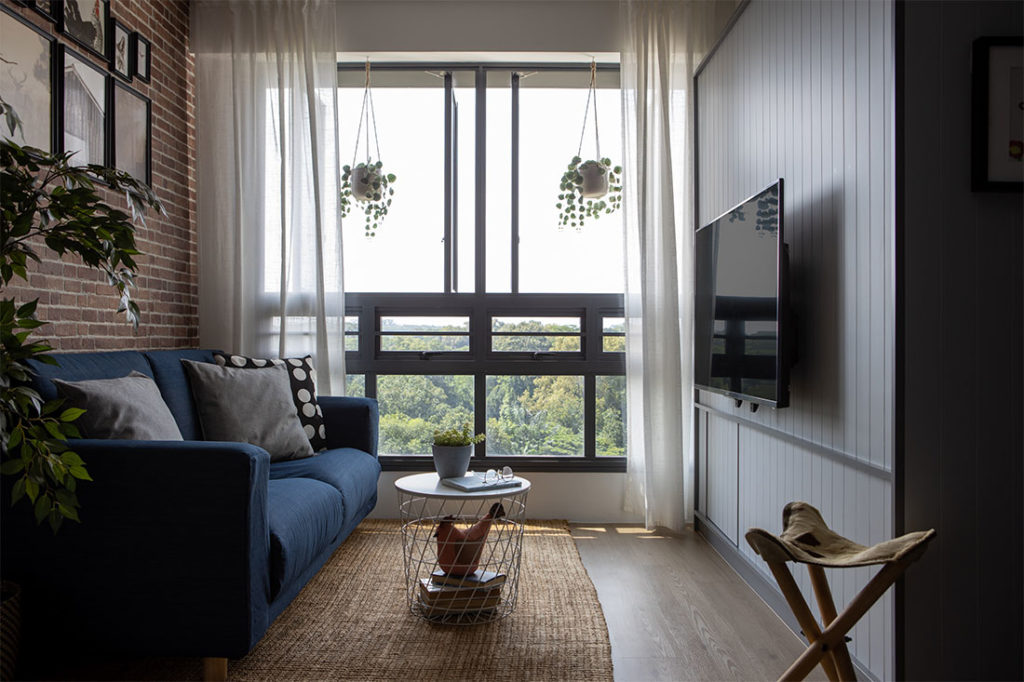 living room 3-room BTO project by D' Marvel Scale