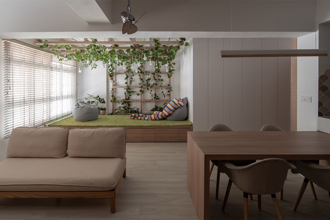 Japandi-styled flat Arche project