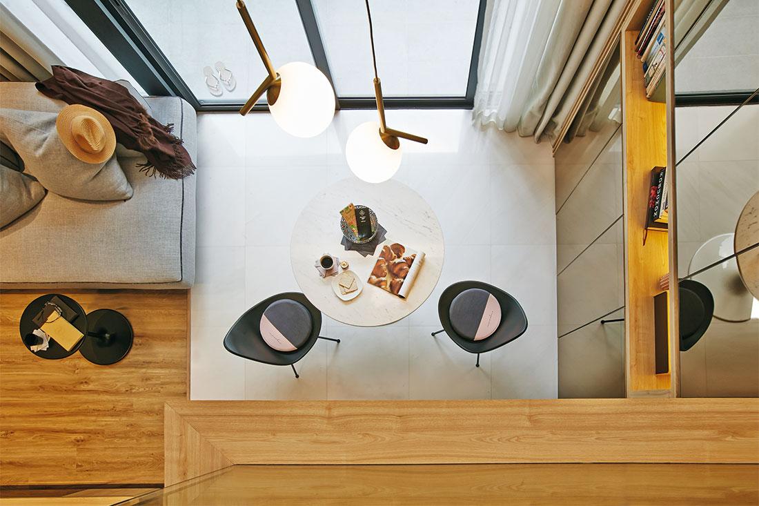 top down view shoebox apartment by Design of Schatz
