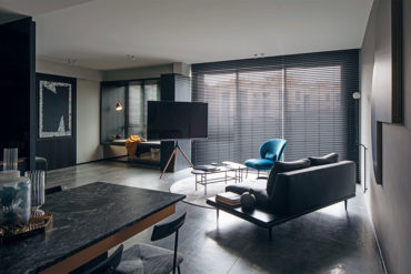 A made-to-measure bachelor pad with an open plan