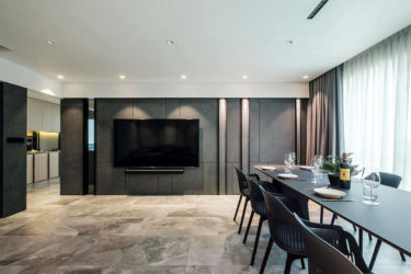 The luxury of space in a home to chill and host