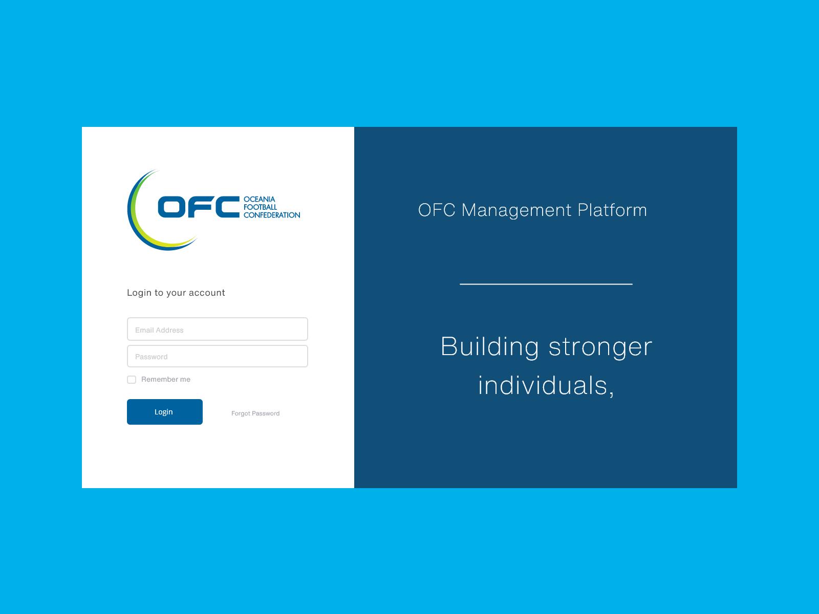 Oceania Football Confederation - International Management Platform