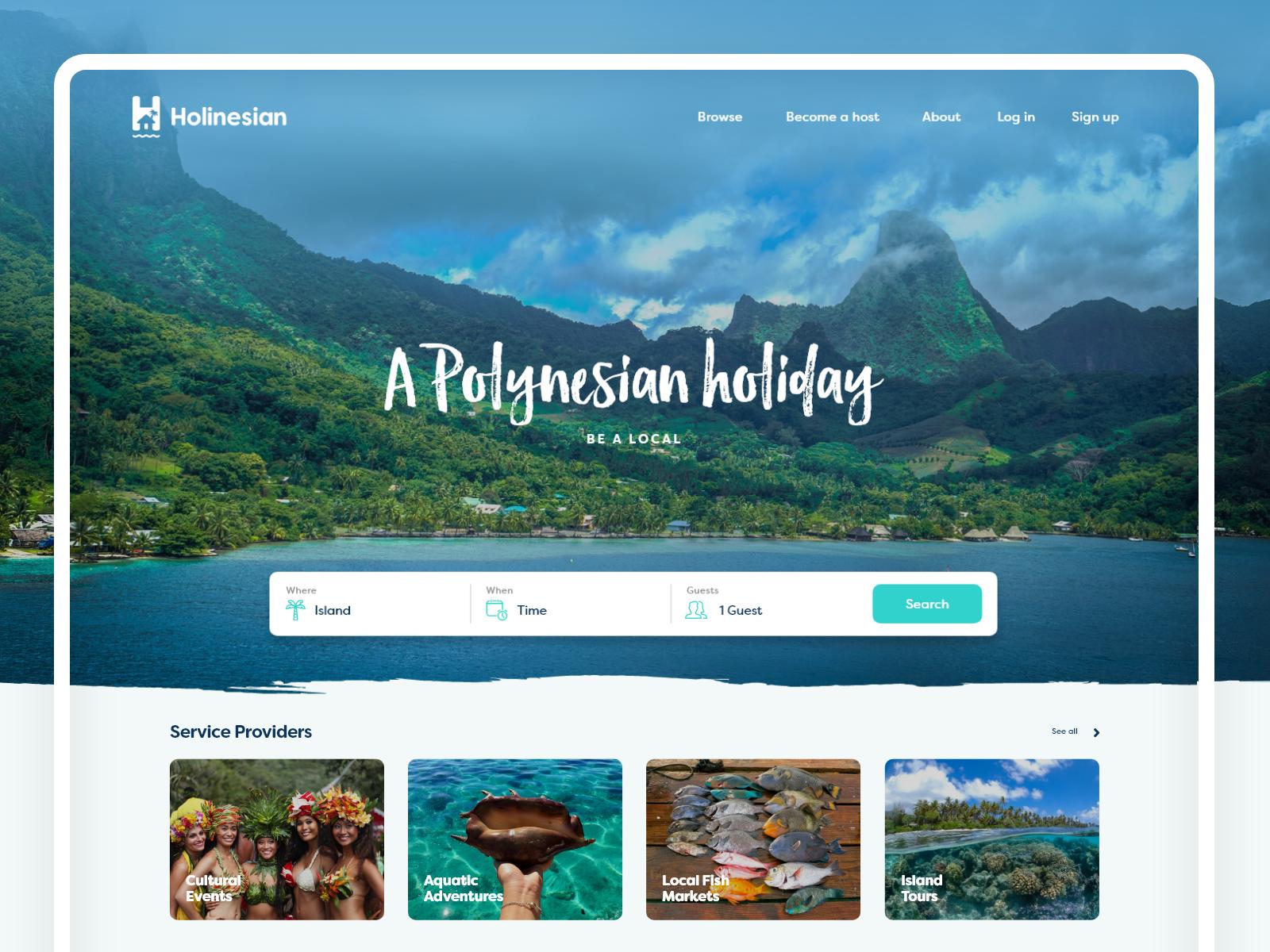 Holinesian - Online Booking Platform