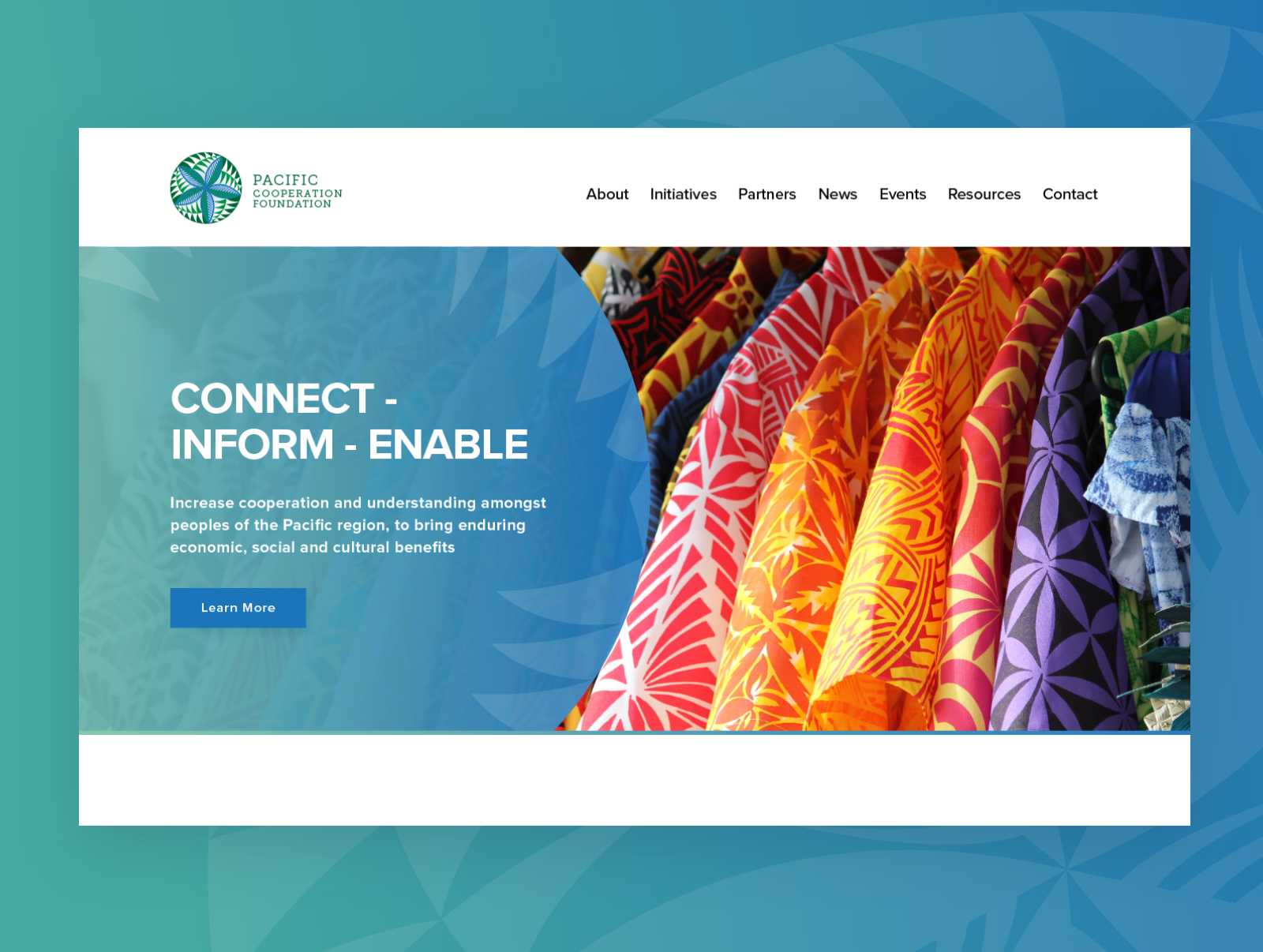 Pacific Cooperation Foundation - Content Driven Website
