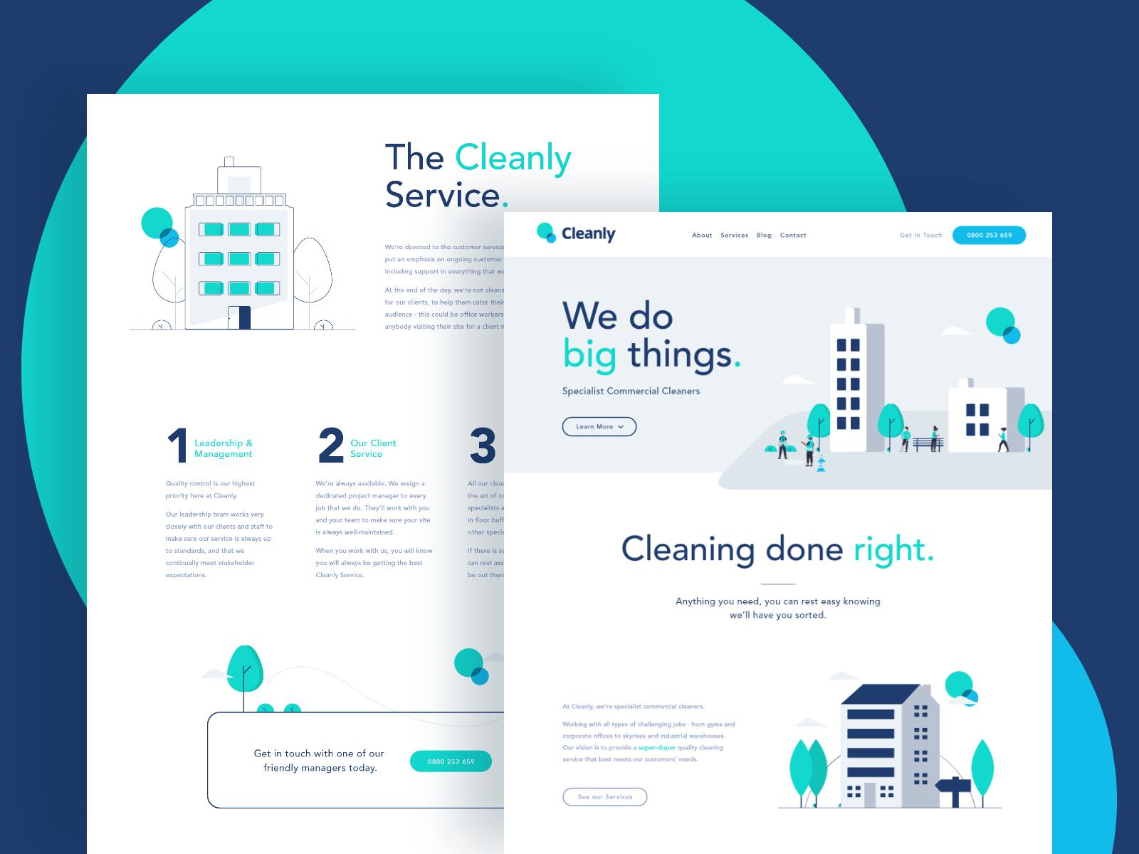 Cleanly - Branding, Identity & Website