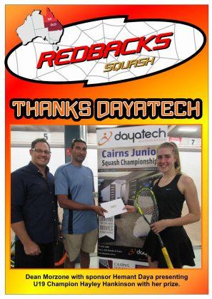 Redbacks Squash Newsletter March 2018