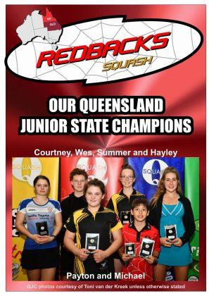 Redbacks Squash Newsletter August 2018