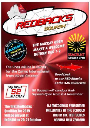 Redbacks Squash Newsletter September 2018