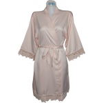 Lace Satin Robe Blush