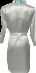 Satin Diamante Robe Back Only White