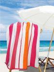 Stripes Fuchsia/Orange/White Pool & Beach Towel