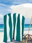 Stripes Teal/White Pool & Beach Towel