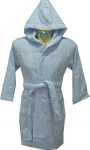 Child Blue Hooded Robe Size 6-8