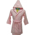 Child Pink Hooded Robe Size 2-4