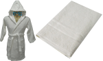 Child Hooded Robe and Bath Sheet set