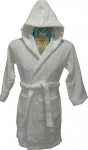 Child White Hooded Robe Size 6-8