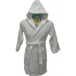 Child White Hooded Robe Size 0-1