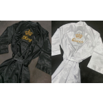 King or Queen Satin Robe Embroidered Front and Back
