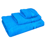 3 Piece Kingtex Bath Sheet Set Aqua Blue