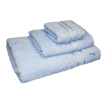 3 Piece Kingtex Towel Set Baby Blue