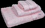 3 Piece Kingtex Towel Set Baby Pink