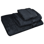 3 Piece Kingtex Bath Sheet Set Black