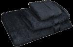 3 Piece Kingtex Towel Set Black