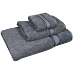 3 Piece Kingtex Towel Set Charcoal