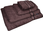 4 Piece Kingtex Towel Set Chocolate