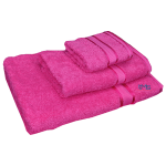 3 Piece Kingtex Bath Sheet Set Fuchsia