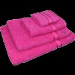 4 Piece Kingtex Towel Set Fuchsia