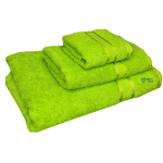 3 Piece Kingtex Bath Sheet Set Lime