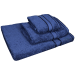 3 Piece Kingtex Towel Set Navy