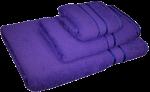3 Piece Kingtex Bath Sheet Set Purple