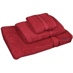 3 Piece Kingtex Bath Sheet Set Red