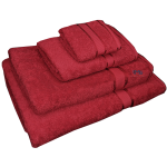 4 Piece Kingtex Towel Set Red