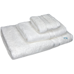 3 Piece Kingtex Towel Set White
