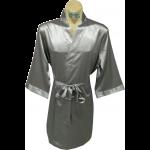 Plain Satin Robe Platinum