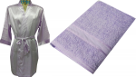 Adult Satin Robe and Bath Sheet set