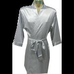 Plain Satin Robe Silver