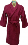 Softouch Terry Toweling Robe Burgandy