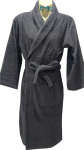Softouch Terry Toweling Robe Charcoal S/M
