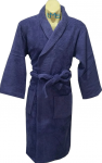 Softouch Terry Toweling Robe Navy S/M