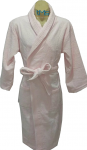Softouch Terry Toweling Robe Soft Pink S/M