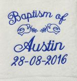 Baptism Towel Template 9