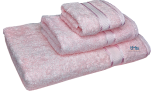 3 Piece Kingtex Towel Set Baby Pink