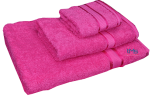 3 Piece Kingtex Towel Set Fuchsia