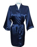 Sophia's Satin Robe Navy