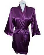 Sophia's Satin Robe Purple