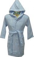 Child Blue Hooded Robe Size 2-4